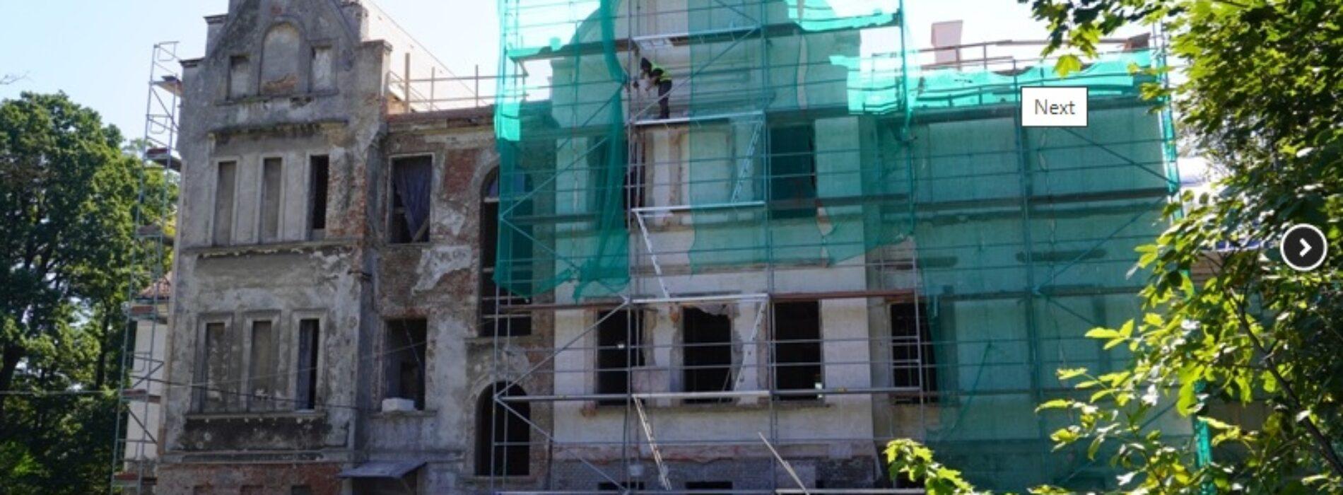 Zabytkowy pałac w Baranowicach zmienia swoje oblicze